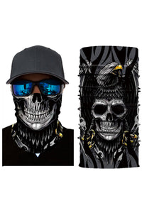 3D Skull Head Scarf Face Mask