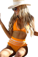 Load image into Gallery viewer, Pom Pom Mesh Insert High Waist Bikini