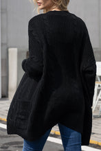 Load image into Gallery viewer, Black Knit Texture Long Cardigan