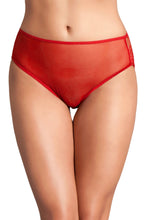 Load image into Gallery viewer, Red Cutout Lace Back Peekaboo Panty