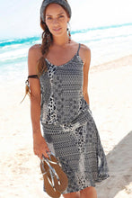 Load image into Gallery viewer, Gray Trendy Print Summer Dress