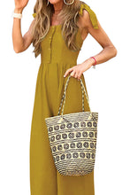 Load image into Gallery viewer, Yellow Button Down Sleeveless Wide Leg Jumpsuit