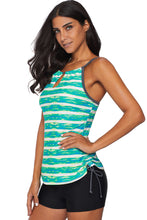 Load image into Gallery viewer, Green Print Tankini Swimwear