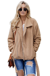 Khaki Niagara Falls Pocketed Sherpa Jacket