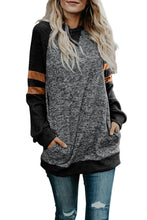 Load image into Gallery viewer, Black Fashion Casual Splice Loose Sweatshirt