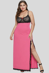 Rose Black Plus Size Gown Lingerie