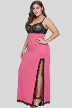 Load image into Gallery viewer, Rose Black Plus Size Gown Lingerie