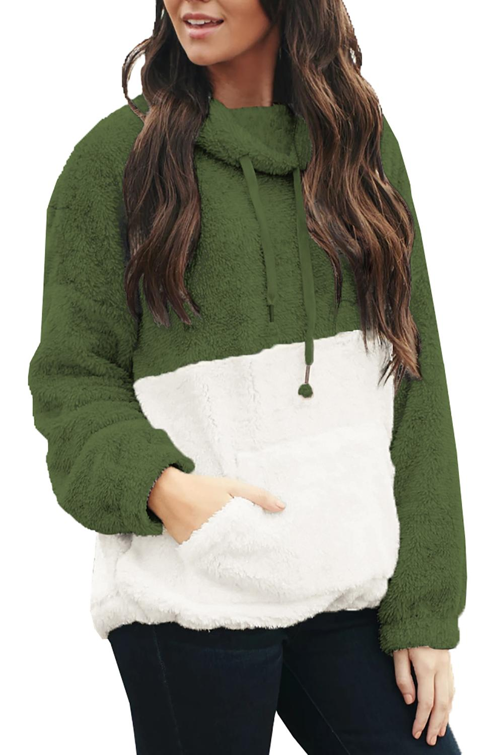 Green Two Side Story Sweatshirt