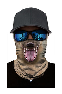 Animal Print Cycling Motorcycle Head Scarf Neck Warmer Face Mask