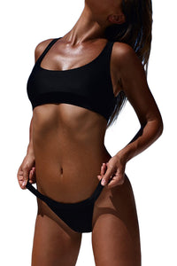 Black Sporty Fashion Bikini Bathing Suit