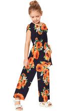 Load image into Gallery viewer, Blue Sunflower Jumpsuit