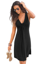 Load image into Gallery viewer, Black Flowy Knot Detail Mini Dress