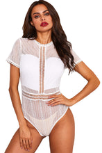 Load image into Gallery viewer, White Melted Heart Bodysuit
