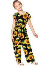 Load image into Gallery viewer, Black Sunflower Jumpsuit