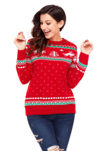 Load image into Gallery viewer, Red Christmas Reindeer Knit Sweater Winter Jumper