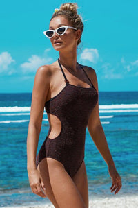 Scatter Halter One-piece Swimsuit