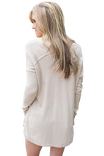 Load image into Gallery viewer, Apricot Soft V Neck Sweater
