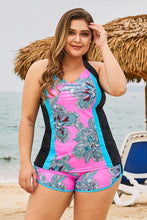 Load image into Gallery viewer, Rose Floral Block Plus Size Swimwear