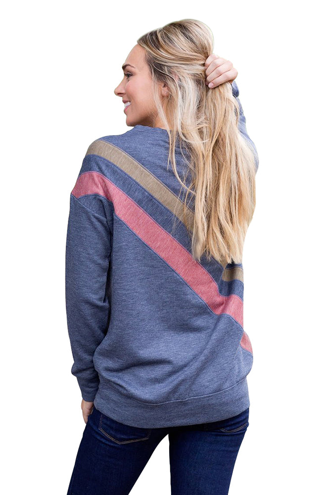 Gray Rays Back Pullover Sweatshirt
