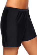 Load image into Gallery viewer, Black Retro Swim Bottom Shorts
