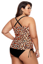 Load image into Gallery viewer, Cute Leopard Print Sweetheart Tankini Swimsuit
