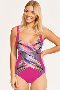 Rose Utopia Shaped Square Neck One-piece swimsuit