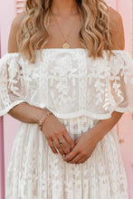 Load image into Gallery viewer, White Off The Shoulder Lace Maxi Dress