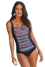 Load image into Gallery viewer, Blue Boho Print One Piece Swimwear