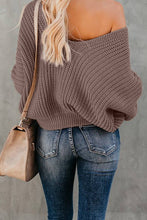 Load image into Gallery viewer, Brown Carry On Knit V Neck Pullover Sweater