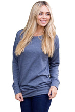 Load image into Gallery viewer, Gray Rays Back Pullover Sweatshirt