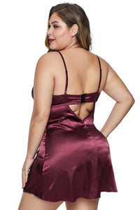 Red Lace Fetish Plus Size Babydoll