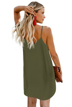 Load image into Gallery viewer, Green Buttoned Slip Dress