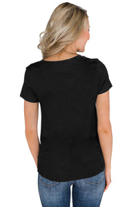Black Home Grown Short Sleeve Tee Top
