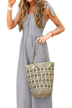 Load image into Gallery viewer, Gray Button Down Sleeveless Wide Leg Jumpsuit