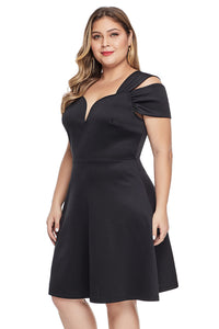 Black Plus Size Flare Dress