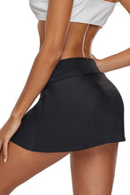 Load image into Gallery viewer, Black Skirted Swim Bikini Bottom