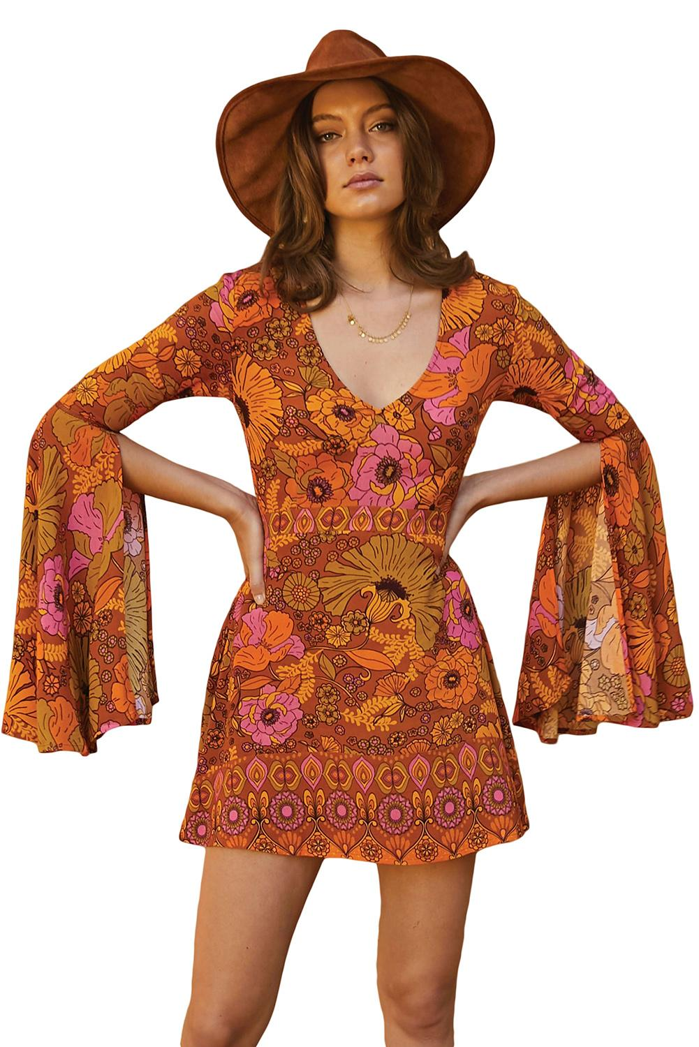 Orange Jupiter Dress