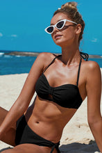 Load image into Gallery viewer, Black Knotted Ruched Bikini Swimwear