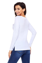 Load image into Gallery viewer, White Button Long Sleeve Top with Pockets