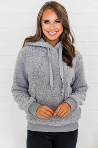 Gray My Kind of Love Hoodie Doorbuster