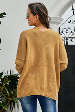 Load image into Gallery viewer, Brown Oversize Button Front Cardigan