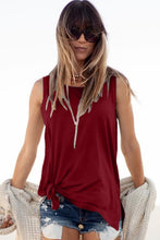 Load image into Gallery viewer, Red Knot Front Jersey Tank