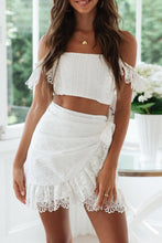 Load image into Gallery viewer, Petunia Crop Top and Skirt Set