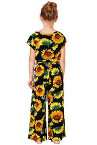 Black Sunflower Jumpsuit