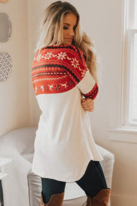 Red On Santa's Nice List Shift Blouse