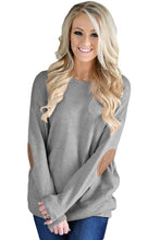 Load image into Gallery viewer, Gray Elbow Patch Sweatshirt