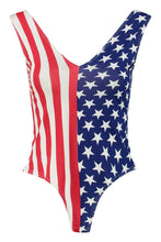 Load image into Gallery viewer, The Stars and Stripes Beach Maillot Swimsuit