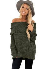 Load image into Gallery viewer, Green Off The Shoulder Comfy Sweater