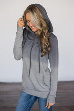 Load image into Gallery viewer, Gray Ombre Kangroo Pocket Pullover Hoodies