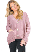 Load image into Gallery viewer, Pink Swoon And Snuggles Chenille Shift Sweater